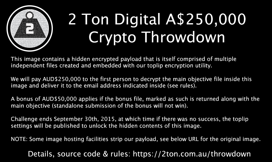 2 Ton Digital $250k Crypto Throwdown Image